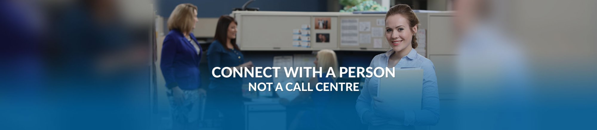 connect with person not a call center